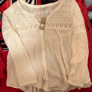 White American Eagle Blouse
